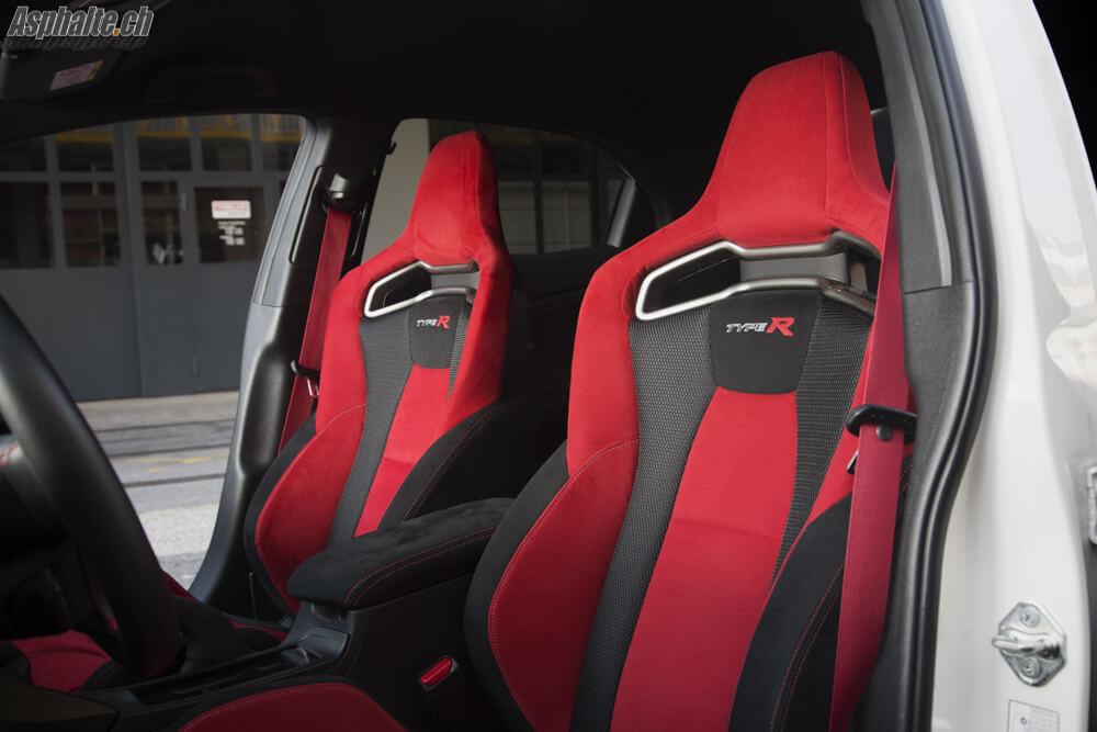 Essai Honda Civic Type R sièges baquet