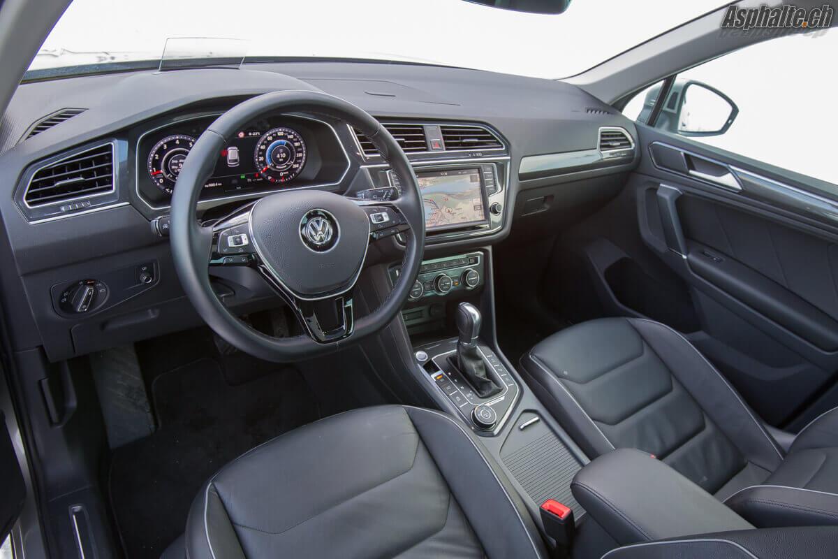 Essai VW Tiguan mk2 intérieur tableau de bord