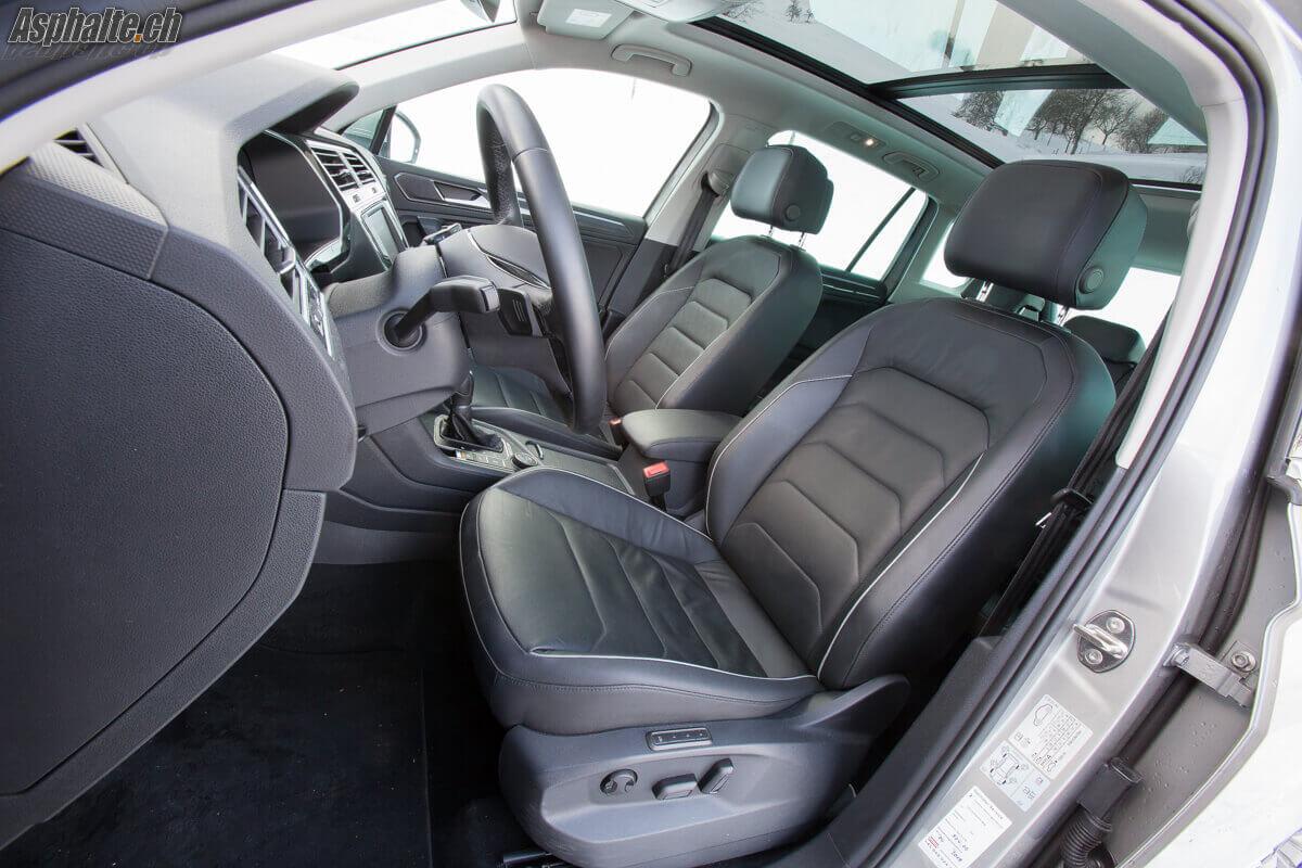 Essai VW Tiguan 2016 intérieur sièges avant