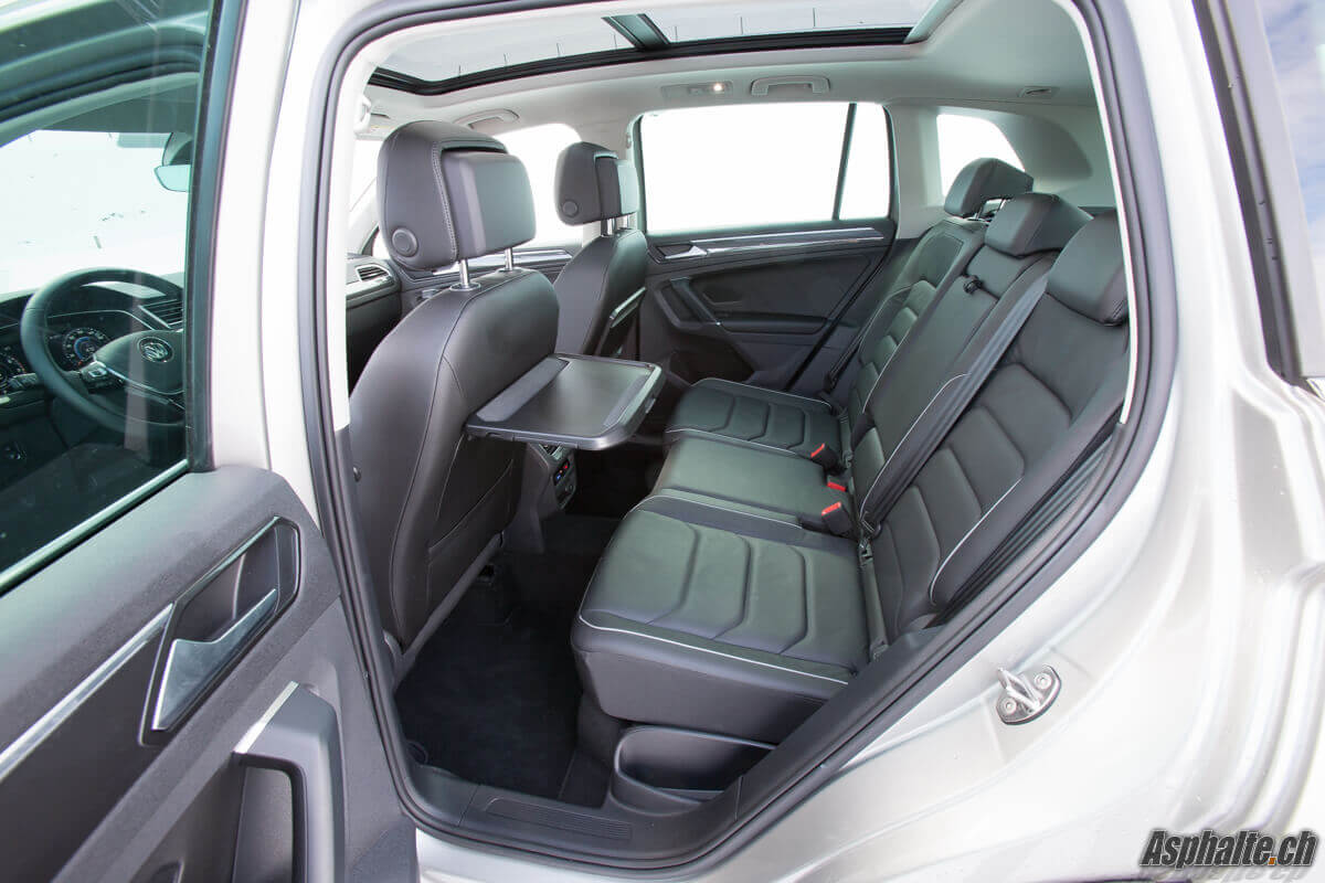 Essai Volkswagen Tiguan 2016 sièges arrière