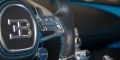 Bugatti Chiron Black Blue Genève volant