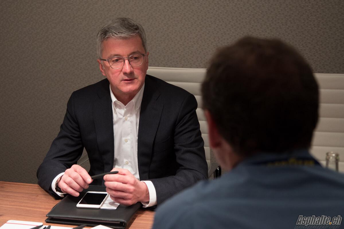 Interview Rupert Stadler CEO Audi Geneve 2017