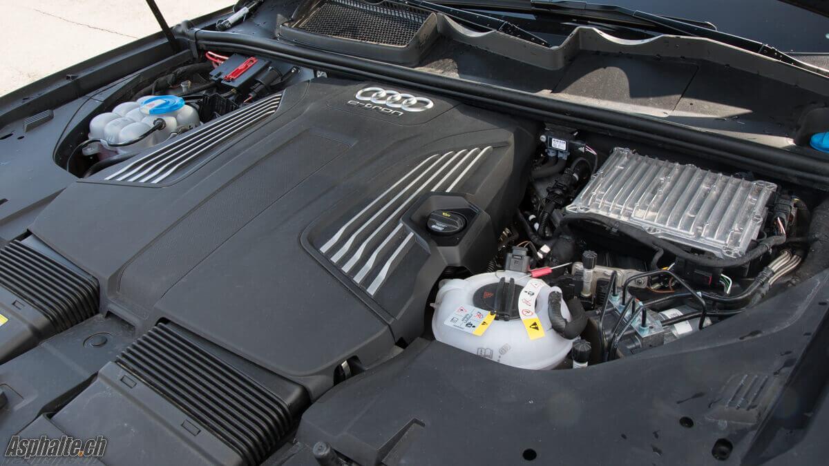 Essai Audi Q7 e-tron hybride moteur