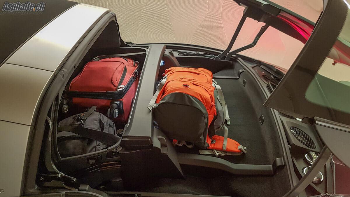 Essai Porsche 911 Targa 4S coffre bagages