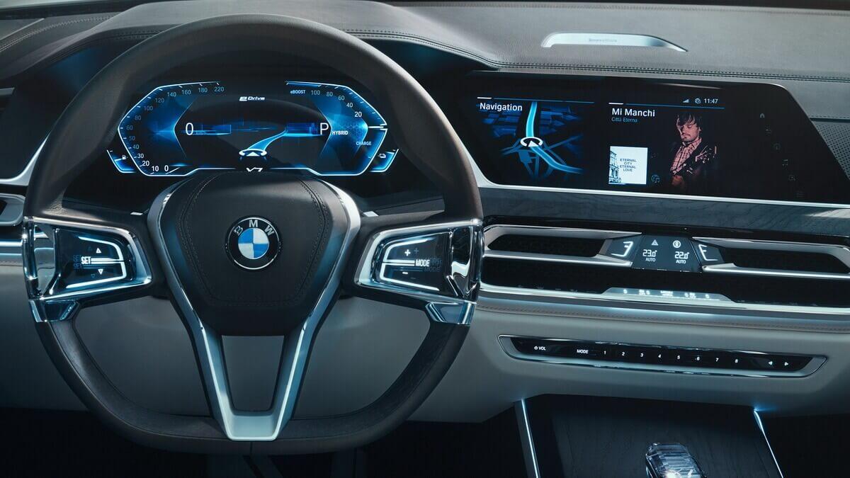 BMW Concept X7 iPerformance compteurs