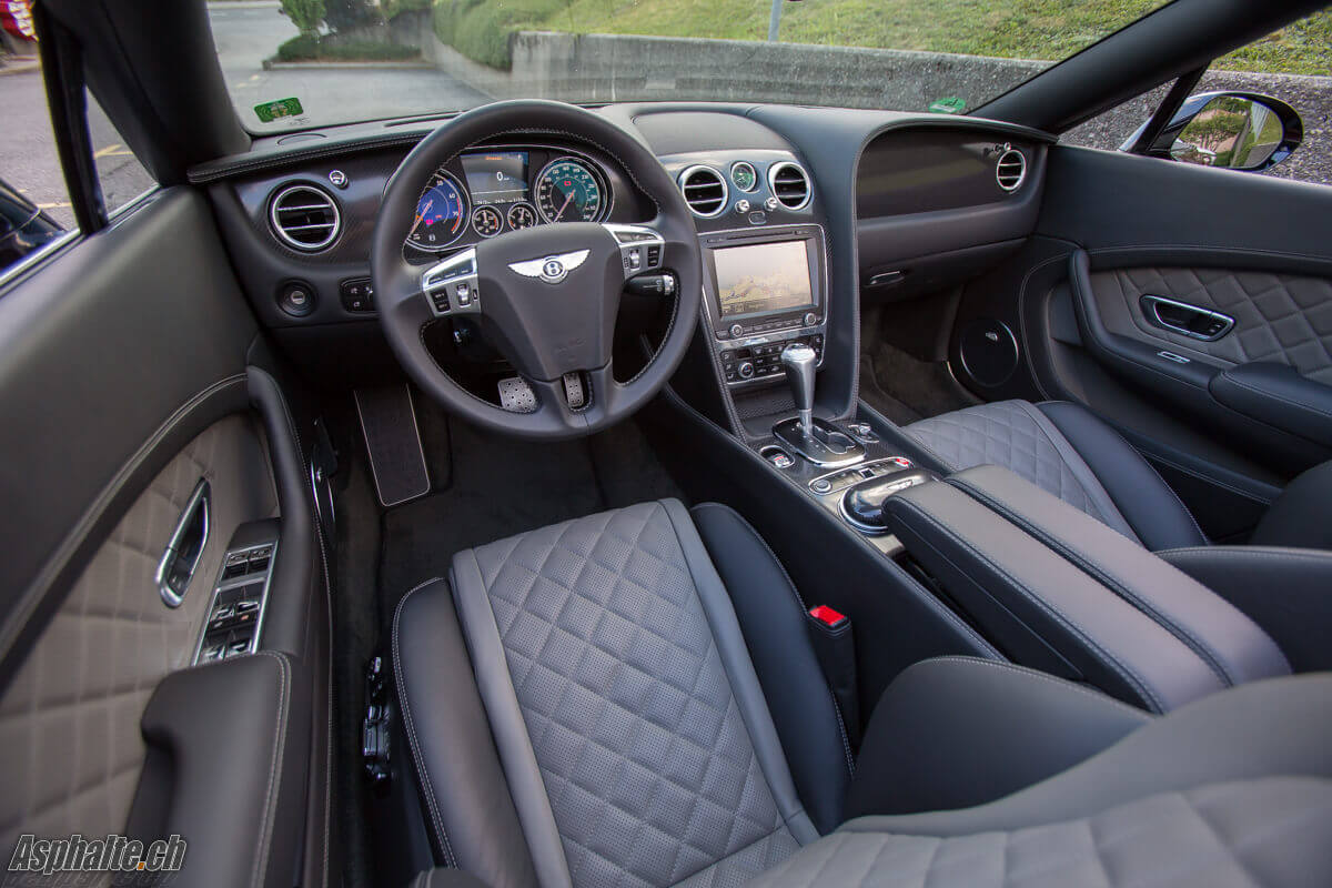 Essai Bentley Continental GT Convertible V8S intérieur