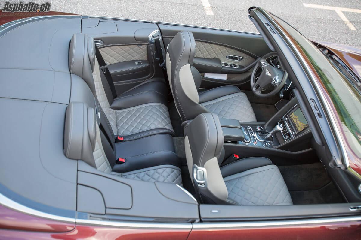 Essai Bentley Continental GTC V8S intérieur