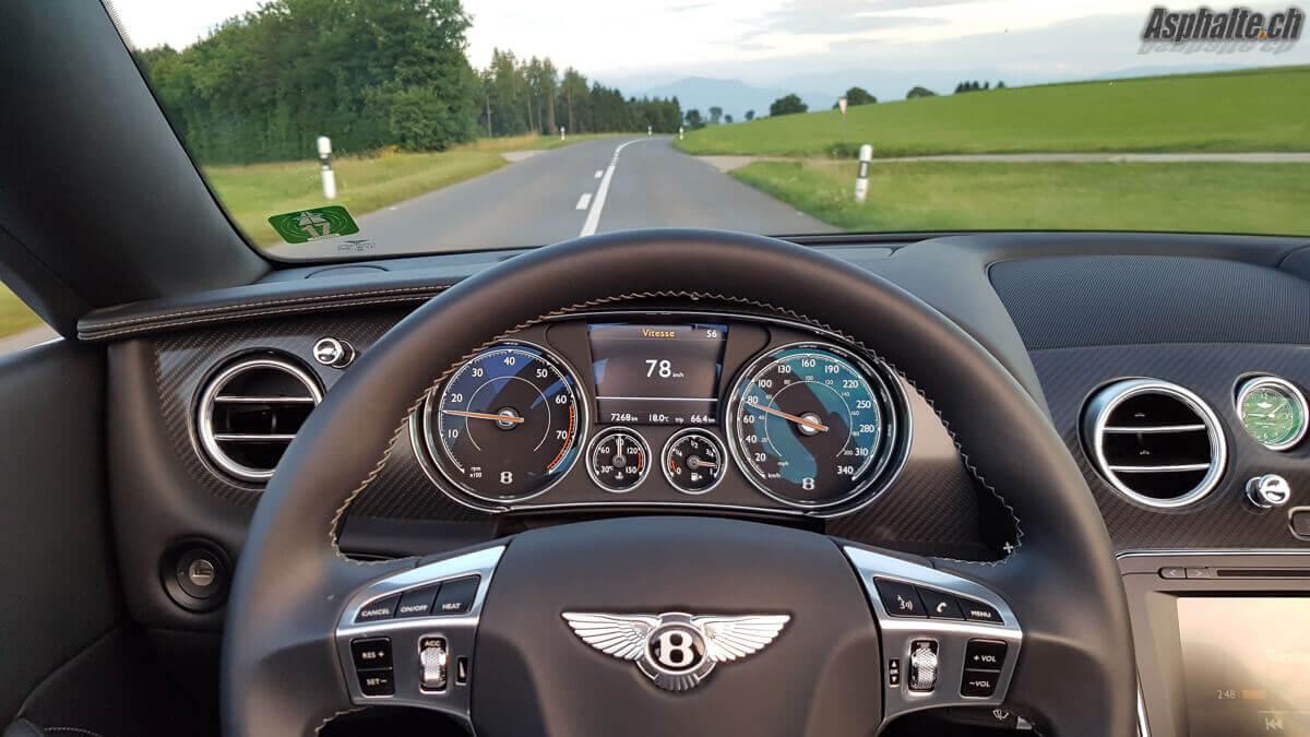 Essai Bentley Continental GT Convertible V8S Compteurs