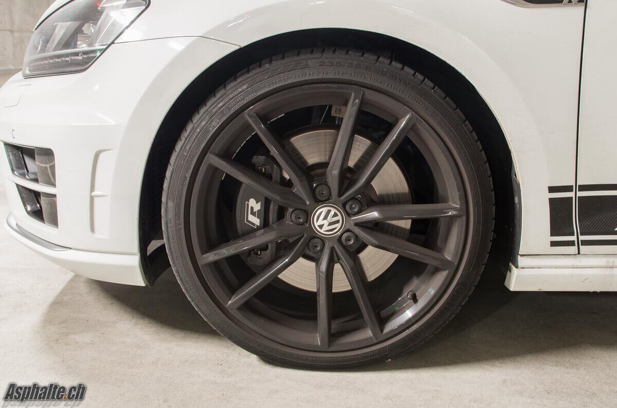 Essai VW Golf VII R 360S jante