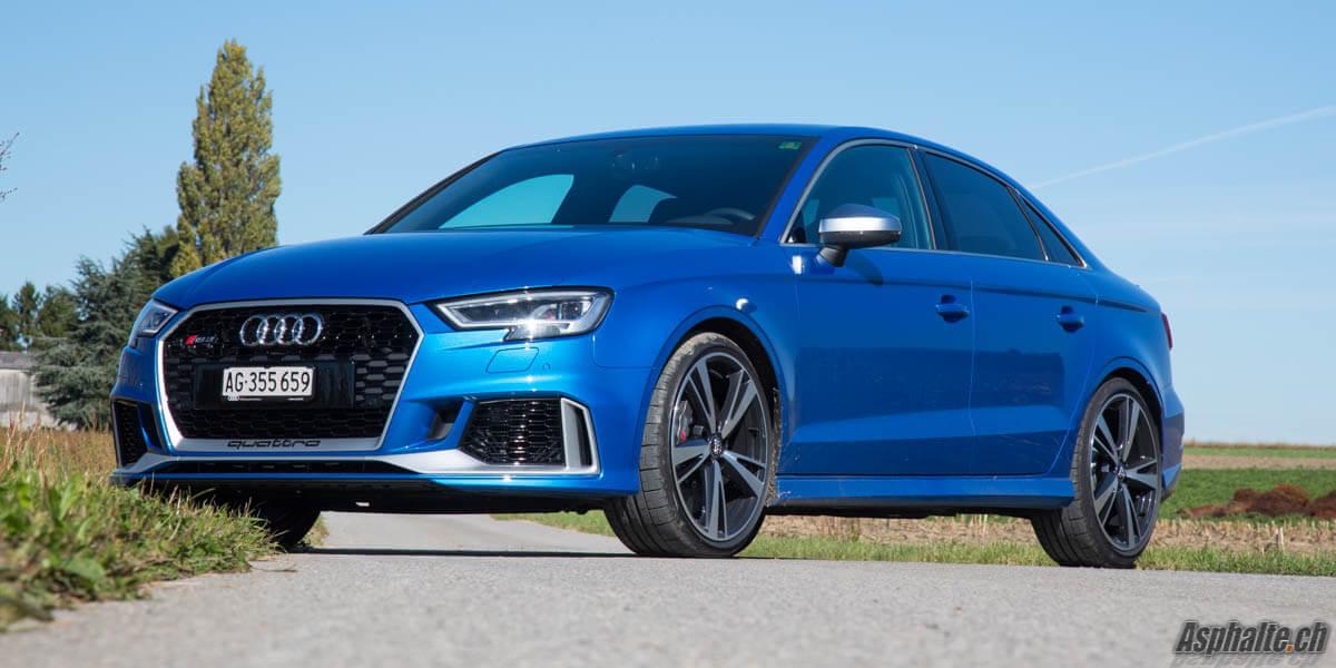 Essai Audi RS3 8V Phase 2 Bleu Ara
