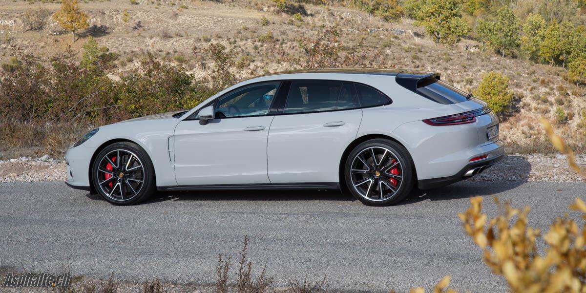 Essai Porsche Panamera Turbo Sport Turismo Craie