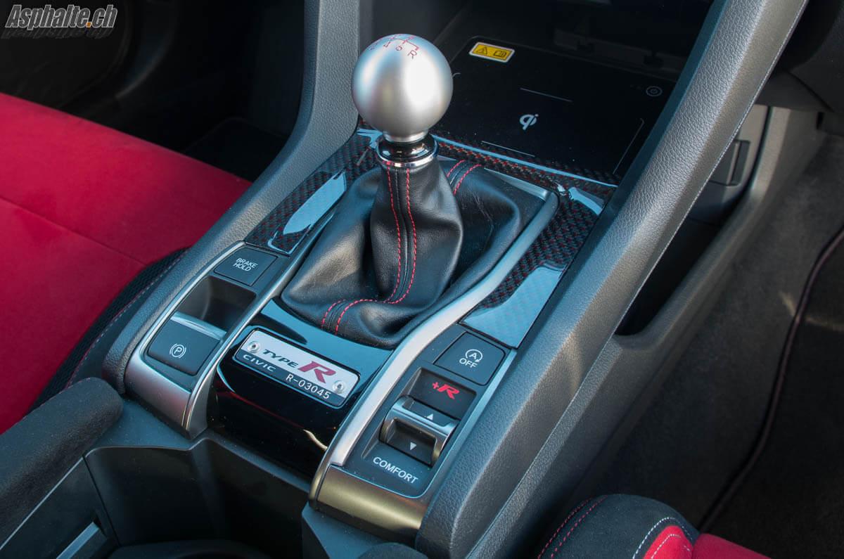 Essai Honda Civic Type R commande de boîte