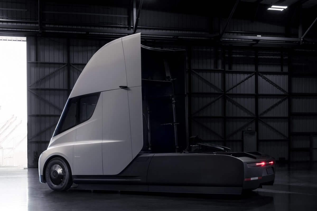 tesla semi le poids lourd. Black Bedroom Furniture Sets. Home Design Ideas