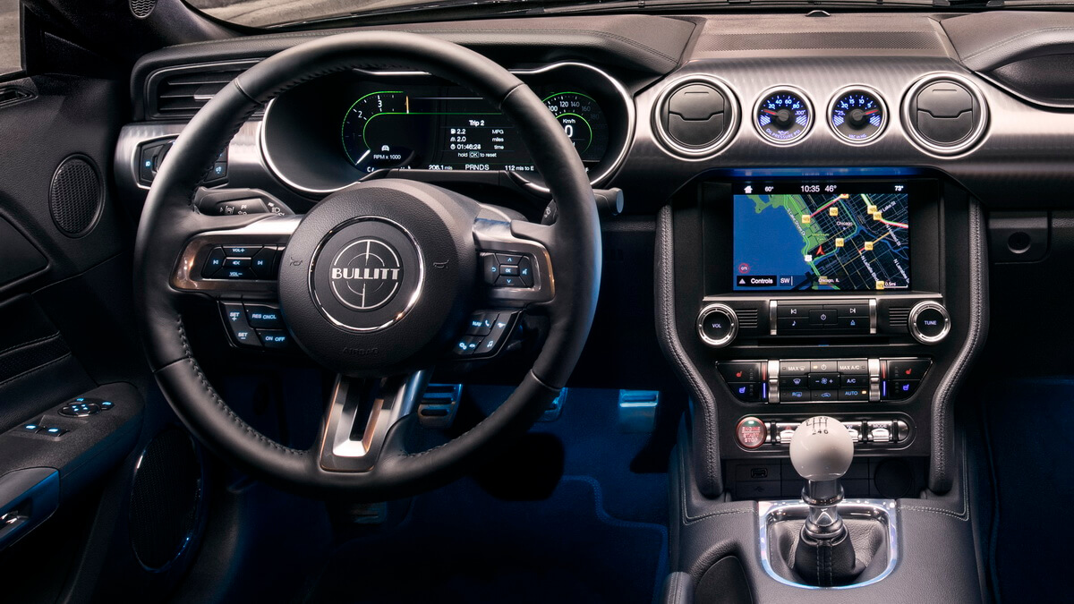 Ford Mustang Bullitt tableau de bord