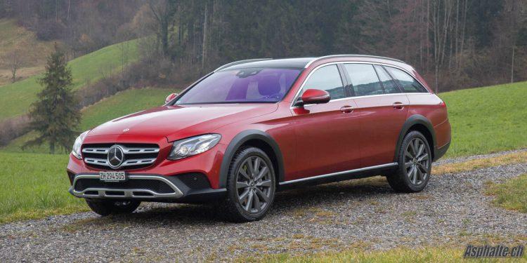 Essai Mercedes Classe E All-Terrain Rouge Jacinthe