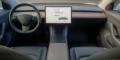 Tesla Model 3 intérieur tableau de bord