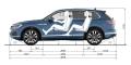VW Touareg III dimensions