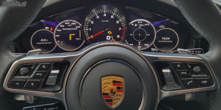 Essai Porsche Cayenne S mk3 compteurs tableau de bord