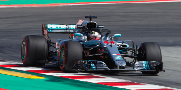 F1 GP Espagne 2018 Mercedes Petronas AMG Lewis Hamilton