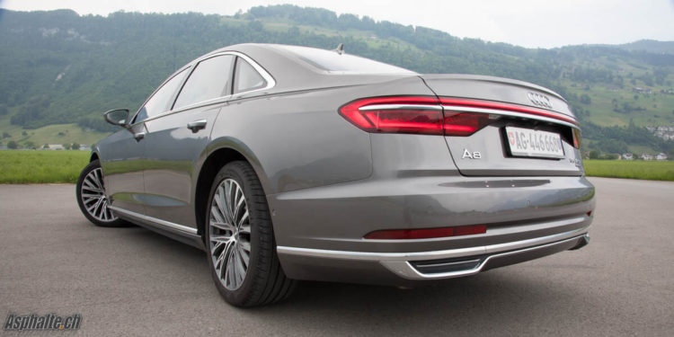 Essai Audi A8 D5 roues directrices