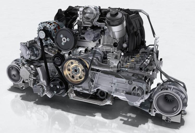 Essai Porsche 991 GT2 RS moteur écorché