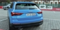 Audi Q3 bleu turbo