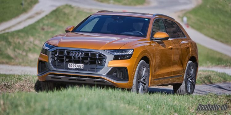 Essai Audi Q8 50 TDI Orange Dragon