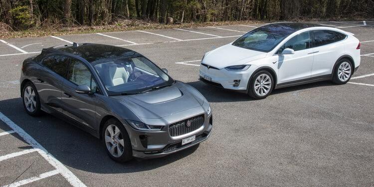 Essai comparatif Jaguar i-Pace Tesla Model X