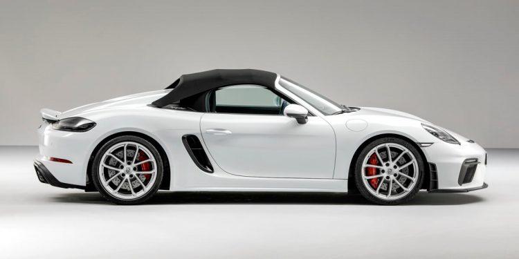 Porsche 718 Spyder profil capote