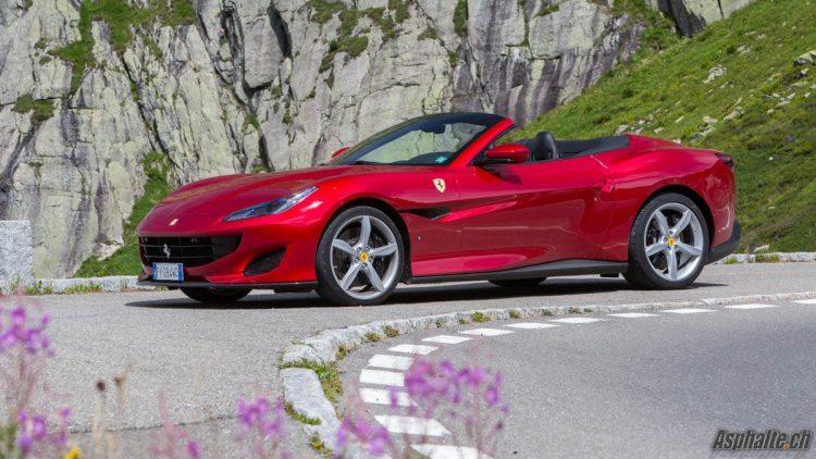 Essai Ferrari Portofino Susten Pass